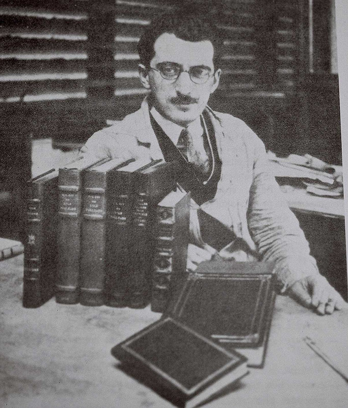 Louis-Philippe Beaudoin in his bindery