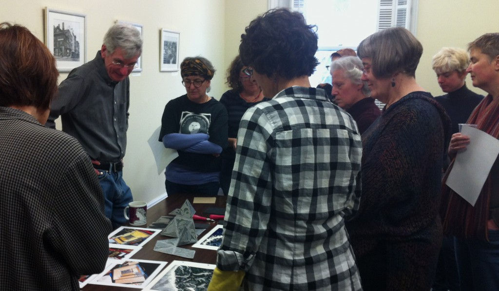 Printing technique sharing session, Library Company of Philadelphia 2013