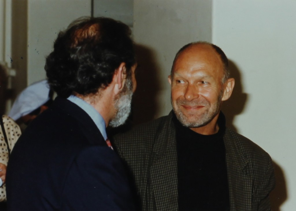 Richard Minsky (back to camera) and Gerard Charriere