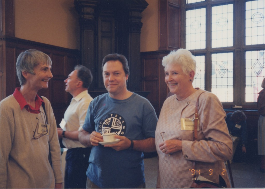 L to R - Joanne Sonnichsen, Tim Ely, Margaret H. Johnson