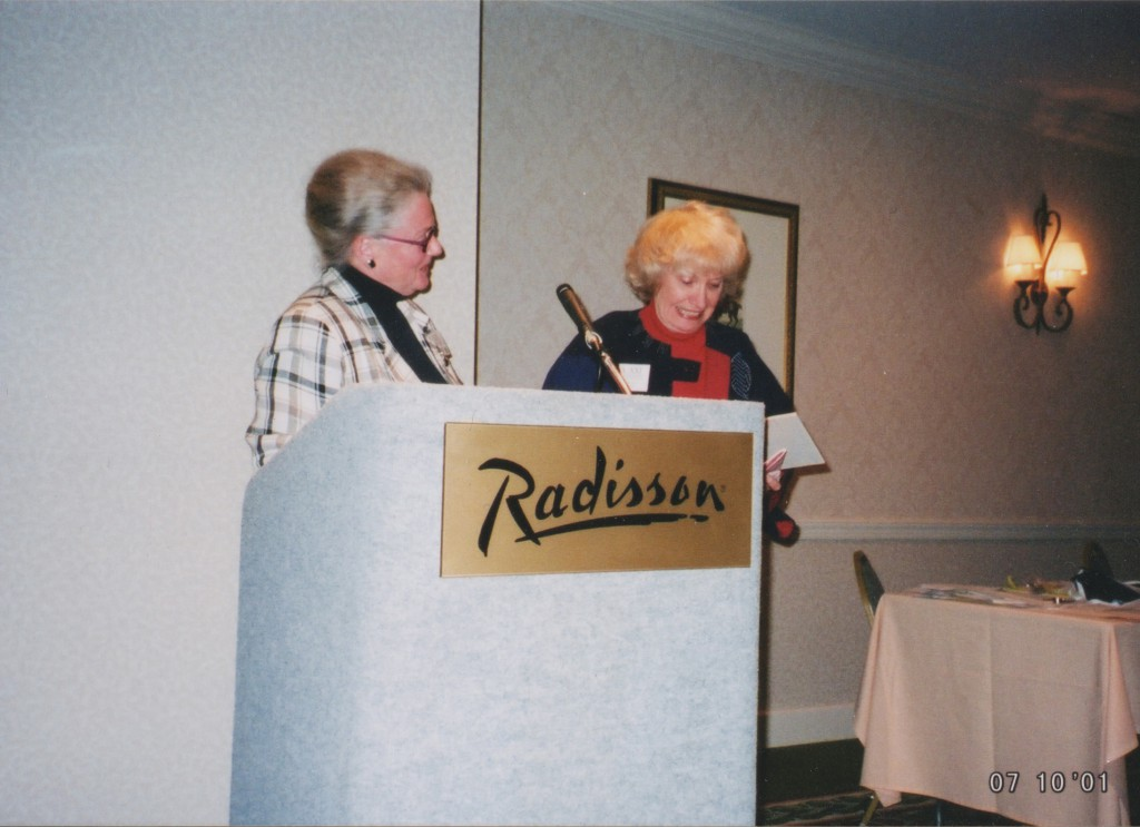Betsy Eldridge (GBW Pres) and Jean Stephenson (retiring Journal Editor)