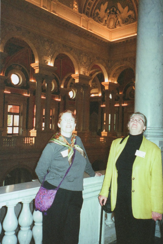 Barbara Wood & B. Eldridge at reception in Library of Congress